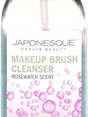 JAPONESQUE Makeup Brush Cleanser, Rosewater Scent, 4 Fl Oz