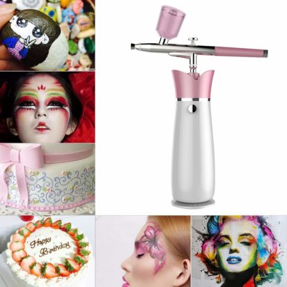 Makeup Airbrush Set, Anself Rechargeable Spray Pen,for Oxygen Water InjectionFace SPA-Tattoo-Nail ArtFace Paint-Cake DeractionColoring Model for Women's Thanksgiving-Christmas Gift - 3