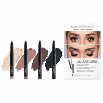 NEW Xtreme Lashes Glideshadow Long Lasting Eyeshadow Stick Quad Collection - Cream to Powder - Compatible with Eyelash Extensions - No powdery fallout or buildup along lash line - 1