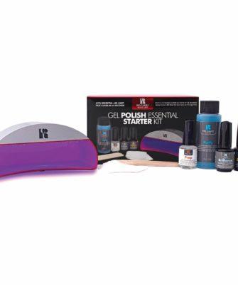 Red Carpet Manicure Gel Polish Essential Starter Kit w-LED Light, Base Coat, Brilliance, and top Coat - 1