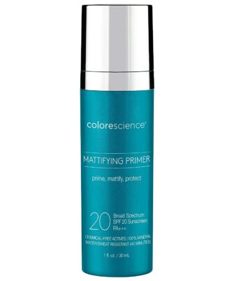 Colorescience Mattifying Perfector Face Primer, Water Resistant Mineral Sunscreen, Broad Spectrum 20 SPF UV Skin Protection, 1 Fl oz - 1
