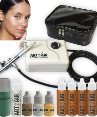 Amazon.com_ Art of Air TAN Complexion Professional Airbrush Cosmetic Makeup System _ 4pc Foundation Set with Blush, Bronzer, Shimmer and Primer Makeup Airbrush Kit_ Beauty - 1