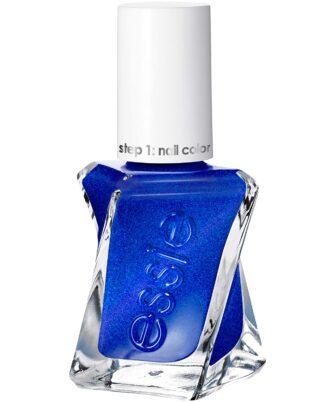 essie Gel Couture 2-Step Longwear Nail Polish, Front Page Worth, Blue Metallic Nail Polish, 0.46 fl. oz. - 1